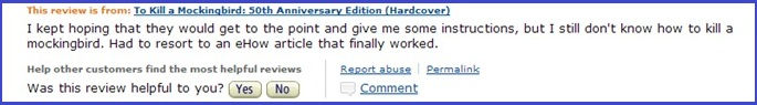Not A Good Tutorial (w border)_Amazon Review of To Kill A Mockingbird