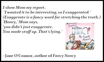 Fancy Nancy Quote on Lying