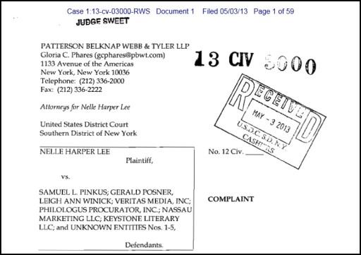 Harper Lee Lawsuit 2013