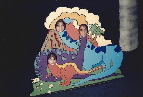 Sisters - dinosaur Late 80s