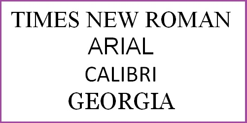 arial or times new roman for essay