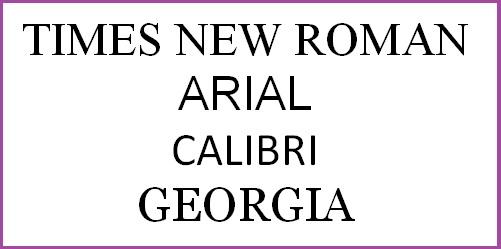 Times New Roman et al
