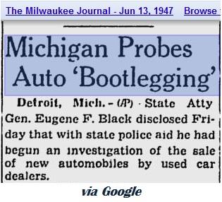 Auto Bootlegging 1947