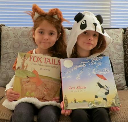 Mar and Sa as Fox and Panda (2) (450x430)