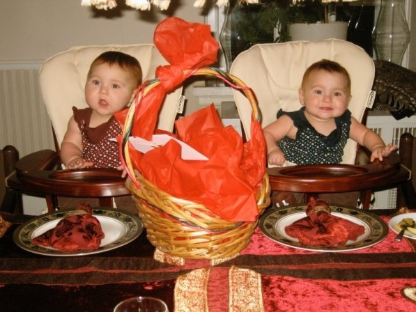 Twins First Thanksgiving No Little Table That Year