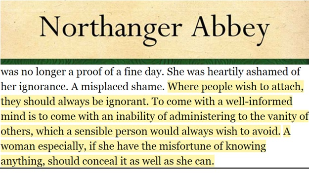 Northanger Quote with the Title