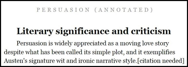 Citation Needed from Annotated Persuasion ebook