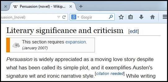 Copied from Wikipedia Persuasion Entry