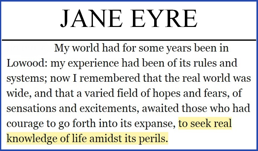 jane eyre a contemplative traveling companion the misfortune of  jane eyre quote