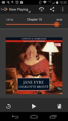 Screenshot of Jane Eyre audiobook