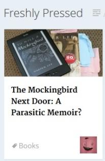 Freshly Pressed Mockingbird (2)