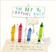 Crayons on strike