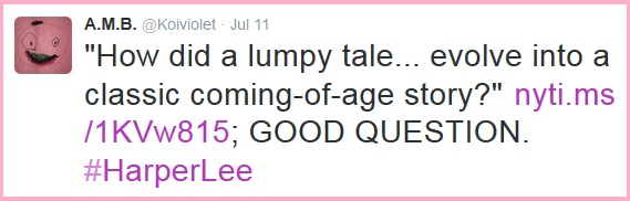 Harper Lees Lumpy Tale